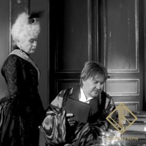 Сергей Котаков (Великий князь). Халат: ткань верха — абровый шёлк адрас, подклад — шёлковый шан-жан, отделка — шёлковый бархат.